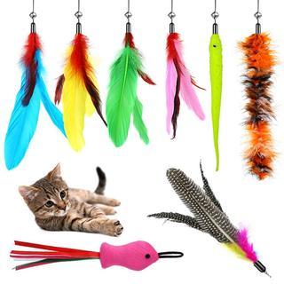 超人気!猫じゃらし おもちゃ 釣竿 羽根 猫用品(猫)
