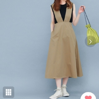 深Vサロペットスカート ワンピース
