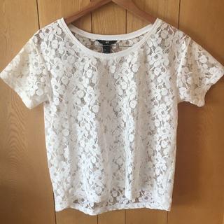 エイチアンドエム(H&M)のH&M 半袖 レースブラウス(シャツ/ブラウス(半袖/袖なし))