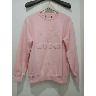 グッチ(Gucci)のGUCCI テニス柄 スウェットシャツ ピンク     (トレーナー/スウェット)