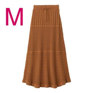 GU - GU*透かし編みニットスカート*Mサイズ