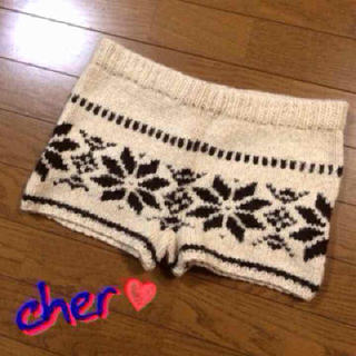 シェル(Cher)の【SALE】cher♡ニットパンツ(ショートパンツ)