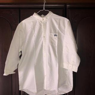 ステューシー(STUSSY)のステューシーオックスフォード7分丈シャツ XL(Tシャツ/カットソー(七分/長袖))