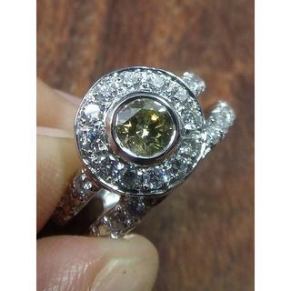 これぞイエローダイヤです!Pt900ダイヤリング 13号(リング(指輪))