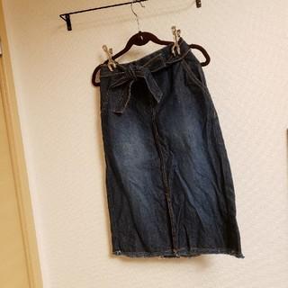 GU - 美品 GU 子供 女の子 デニムスカート 150cm