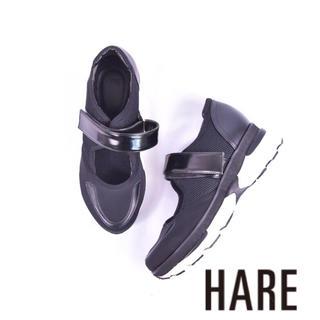 ハレ(HARE)の室内試し履きのみ HARE ハレ エアソール 厚底 ワンベルト サンダル(スニーカー)