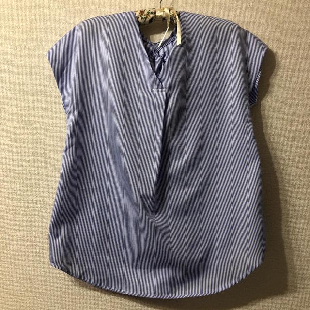 BABYLONE(バビロン)の値下げSaloon ストライプブラウス レディースのトップス(シャツ/ブラウス(半袖/袖なし))の商品写真