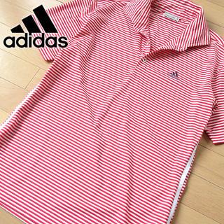 adidas - 超美品 M アディダス ゴルフ メンズ 半袖ポロシャツ レッド