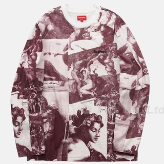シュプリーム(Supreme)のSupreme - Michelangelo L/S Top(Tシャツ/カットソー(七分/長袖))