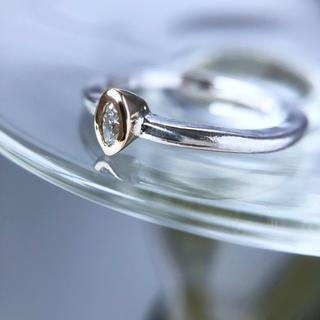 K14 SV925 diamond solitaire ring MQ #10.(リング(指輪))