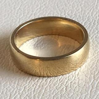 (109)幅広シンプルゴールドリング ヴィンテージ(リング(指輪))