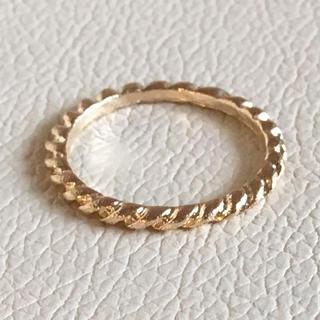 (110)ねじり模様のシンプルリング ゴールド ヴィンテージ(リング(指輪))