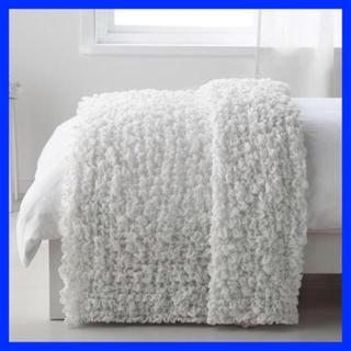 IKEA - IKEA OFELIA 毛布 ホワイト