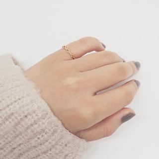 エテ(ete)の美品☆ete☆ K10YG レース ピンキーリング 3号 ゴールド(リング(指輪))