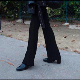 Yohji Yamamoto - センタープレス ブラックフレアパンツ