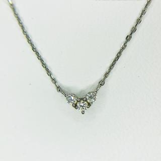 4℃ - 【4℃】プラチナ ダイヤモンド ネックレス