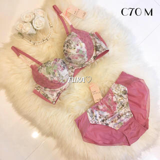 AMO'S STYLE - C70♡アモスタイルby トリンプ フラワー チャーミングラマー ピンク