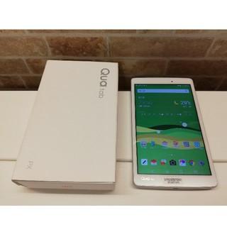 エルジーエレクトロニクス(LG Electronics)の美品 防水・防塵 Qua tab PX 8インチタブレット ホワイト(タブレット)
