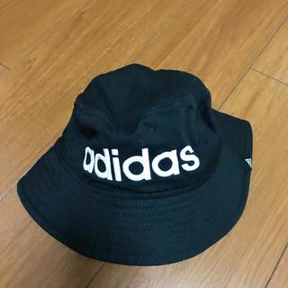 アディダス(adidas)のアディダス黒ラインハット(ハット)