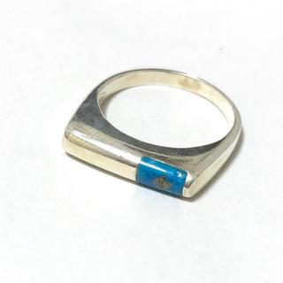 エメラルドグリーン バイカラー指輪 リング(リング(指輪))