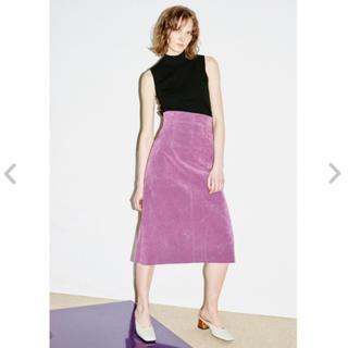 フレイアイディー(FRAY I.D)のヌバック風台形スカート(ロングスカート)
