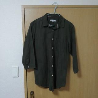 ザショップティーケー(THE SHOP TK)の七分袖シャツ グリーン(シャツ/ブラウス(長袖/七分))