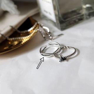 トゥデイフル(TODAYFUL)のsilver925 シルバークロスリング ツイストリング(リング(指輪))