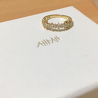 アーカー(AHKAH)の値下げ 売り切り AHKAH マドンナリング アーカー 定価15万 (リング(指輪))