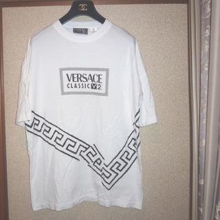 ヴェルサーチ(VERSACE)のヴェルサーチビッグTシャツオーバーサイズシャツヴィンテージ白色 (Tシャツ/カットソー(七分/長袖))