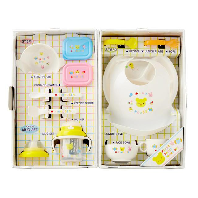 mikihouse(ミキハウス)の【大特価!】MIKI HOUSE 豪華なテーブルウエアセット(ベビー食器セット) キッズ/ベビー/マタニティの授乳/お食事用品(離乳食器セット)の商品写真