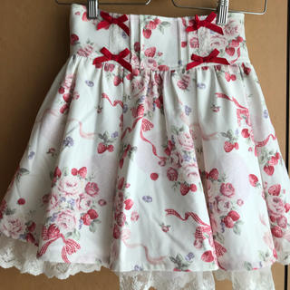 LIZ LISA - 美品♪リズリサ♡花柄♡いちご♡リボン♡ギンガムチェック♡白ミニスカートモテコーデ