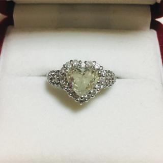 pt900♡ハートシェイプ ダイヤモンド リング プラチナ 指輪 ハート(リング(指輪))