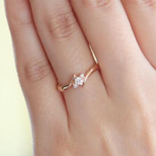 ヨンドシー(4℃)の4℃ 指輪 18K ダイヤモンド 美品(リング(指輪))