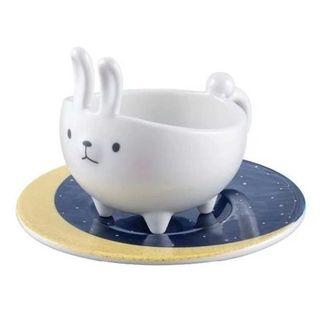 Starbucks Coffee - スタバ 8月新品 可愛い 白 月 兎  マグカップ 台湾限定 ギフト 醤油 お皿