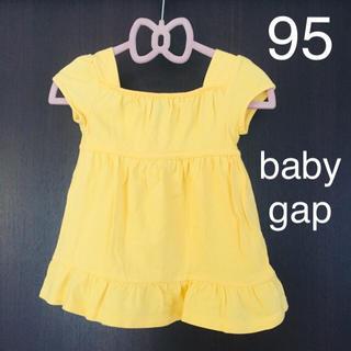 babyGAP - 95 baby gap 半袖 トップス カットソー Tシャツ 女の子 チュニック
