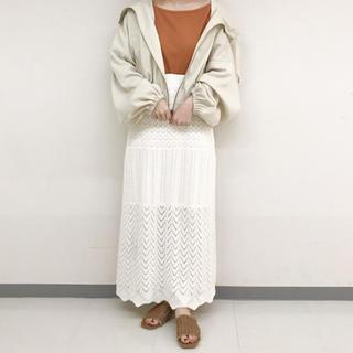 w closet - 新品未使用 試着のみ w closet かぎ編みロングスカート