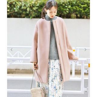 IENA - 新品紙タグ付 イエナ ラムウールノーカラーコート 38 ピンクA 45,360円