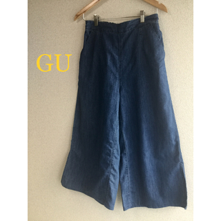 GU - GU ワイドパンツ 薄手ジーンズ素材 美品