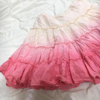 flower - ピンク白ヴィンテージグラデーションスカート