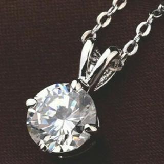 SWAROVSKI - f92❇️アマリリス❇️ 1粒 ダイヤモンドキュービックジルコニア ネックレス