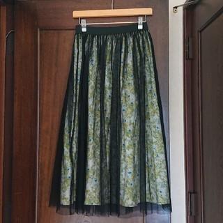 ケービーエフ(KBF)のチュールスカート(ロングスカート)