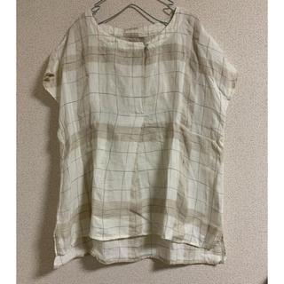 スタディオクリップ(STUDIO CLIP)のスタディオクリップ リネン100% ゆったりカットソ(シャツ/ブラウス(半袖/袖なし))