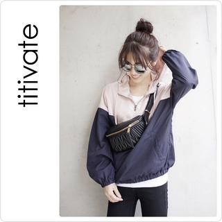 titivate - 新品♡titivate バイカラーアノラックパーカー