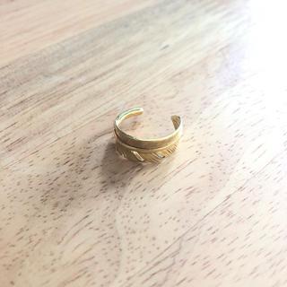 ゴールド リング 9-10 号 調整可能(リング(指輪))