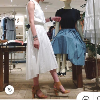 デミルクス ビームス タイプライターギャザースカート フレアスカート スカート
