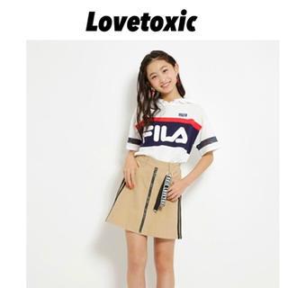 ラブトキシック(lovetoxic)のLovetoxic ✩.*˚ 完売商品 FILAコラボ半袖パーカーTシャツ(Tシャツ/カットソー)