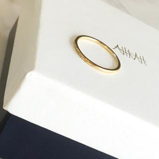アーカー(AHKAH)のAHKAH♡アーカー メテオール リング 指輪 ダイヤモンドK18YG(リング(指輪))