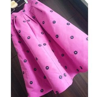 レディアゼル(REDYAZEL)のREDY AZEL フラワー スカート(ひざ丈スカート)