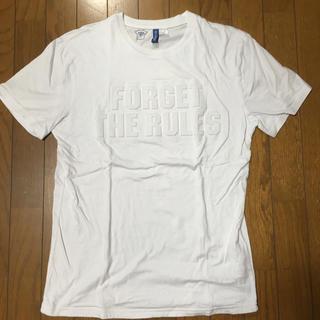 エイチアンドエム(H&M)のH&M エイチ アンド エム ロゴ 白 Tシャツ(Tシャツ/カットソー(半袖/袖なし))