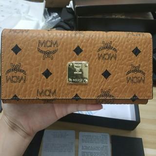 エムシーエム(MCM)のmcm 限定販売 新作 財布 ブラウン(長財布)